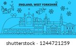 great britain  west yorkshire... | Shutterstock .eps vector #1244721259