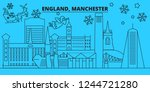 great britain  manchester... | Shutterstock .eps vector #1244721280