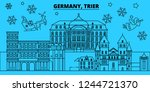 germany  trier winter holidays... | Shutterstock .eps vector #1244721370