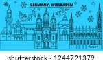 germany  wiesbaden winter... | Shutterstock .eps vector #1244721379