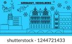 germany  heidelberg winter... | Shutterstock .eps vector #1244721433