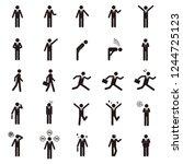 human pictogram vector set | Shutterstock .eps vector #1244725123