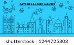 france  nantes winter holidays... | Shutterstock .eps vector #1244725303
