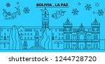 bolivia  la paz winter holidays ...   Shutterstock .eps vector #1244728720