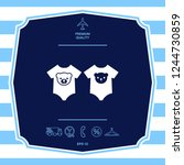 baby rompers icon. graphic... | Shutterstock .eps vector #1244730859