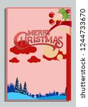 christmas greeting card with... | Shutterstock .eps vector #1244733670