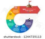 digital marketing concept.... | Shutterstock .eps vector #1244735113