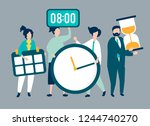 characters of people holding... | Shutterstock .eps vector #1244740270