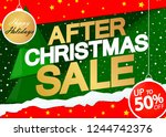 after christmas sale  50  off ... | Shutterstock .eps vector #1244742376