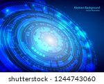 concept digital technology... | Shutterstock .eps vector #1244743060