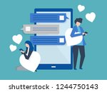 characters of a couple... | Shutterstock .eps vector #1244750143