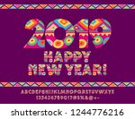 vector colorful pattern...   Shutterstock .eps vector #1244776216