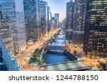 aerial view of skyline along... | Shutterstock . vector #1244788150