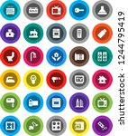 white solid icon set  vacuum... | Shutterstock .eps vector #1244795419