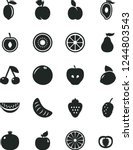 solid black vector icon set  ...   Shutterstock .eps vector #1244803543