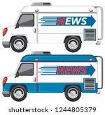 set of news van illustration   Shutterstock .eps vector #1244805379