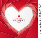valentine s day background | Shutterstock .eps vector #124481368