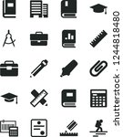 solid black vector icon set  ... | Shutterstock .eps vector #1244818480