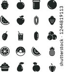 solid black vector icon set  ... | Shutterstock .eps vector #1244819113