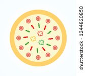 circle pizza cheese food tasty... | Shutterstock .eps vector #1244820850
