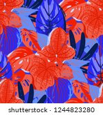 abstract seamless pattern of... | Shutterstock .eps vector #1244823280