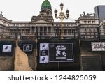 buenos aires  argentina  ... | Shutterstock . vector #1244825059