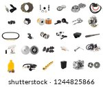 set spare part of motorcycle... | Shutterstock . vector #1244825866