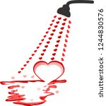 small hearts spread out from...   Shutterstock .eps vector #1244830576