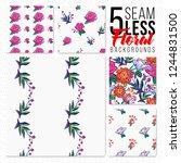 seamless pattern set of... | Shutterstock .eps vector #1244831500