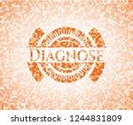 diagnose orange mosaic emblem | Shutterstock .eps vector #1244831809