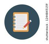 notebook  notepad  binder  | Shutterstock .eps vector #1244845159