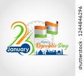 indian republic day 26 january. ... | Shutterstock .eps vector #1244846296