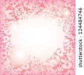 festive pink background  floral ... | Shutterstock .eps vector #124484746