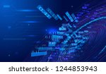 the background of big data... | Shutterstock .eps vector #1244853943