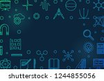science  technology ... | Shutterstock .eps vector #1244855056