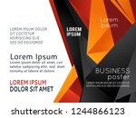background triangle concept... | Shutterstock .eps vector #1244866123