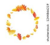 oak  maple  wild ash rowan... | Shutterstock .eps vector #1244866219