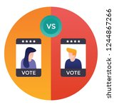 flat icon design of candidate... | Shutterstock .eps vector #1244867266
