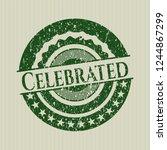 green celebrated rubber stamp... | Shutterstock .eps vector #1244867299