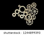 gears on black background.... | Shutterstock . vector #1244899393