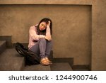 young sad and depressed asian...   Shutterstock . vector #1244900746