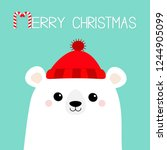 merry christmas. candy cane.... | Shutterstock .eps vector #1244905099