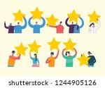 vector cartoon illustration of... | Shutterstock .eps vector #1244905126