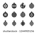 christmas ball  bauble ... | Shutterstock .eps vector #1244905156