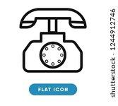 phone call vector icon | Shutterstock .eps vector #1244912746
