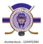 hockey design template banner... | Shutterstock .eps vector #124492384