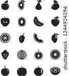 solid black vector icon set  ... | Shutterstock .eps vector #1244924296