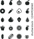 solid black vector icon set  ... | Shutterstock .eps vector #1244926060