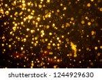 golden blur glitter  lights... | Shutterstock . vector #1244929630