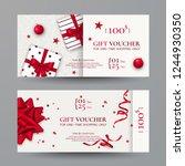 vector set of elegant christmas ... | Shutterstock .eps vector #1244930350